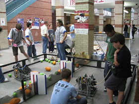 FLL team members are interested in our robot